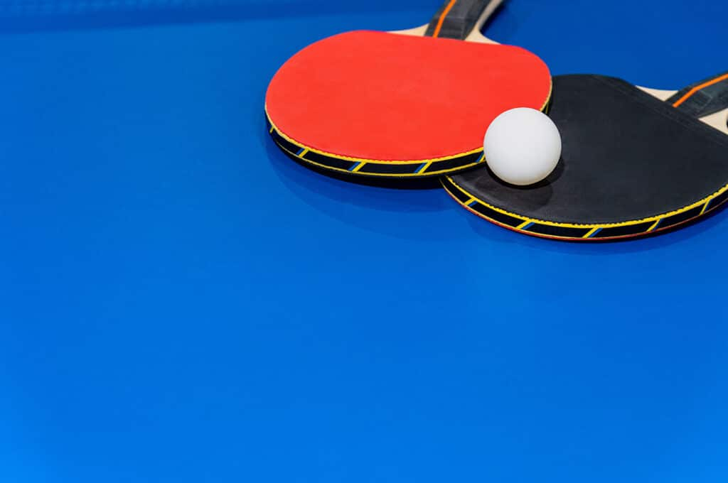 Black And Red Table Tennis Racket